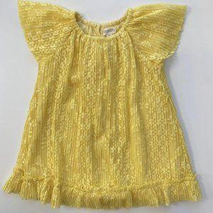 Gymboree 2T Yellow Lace Shift Dress